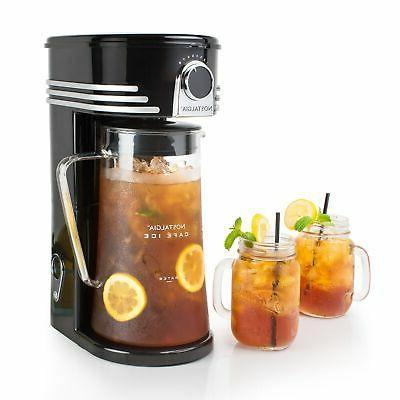 Nostalgia CI3BK Café Ice 3-Quart Iced Coffee & Tea Brewing