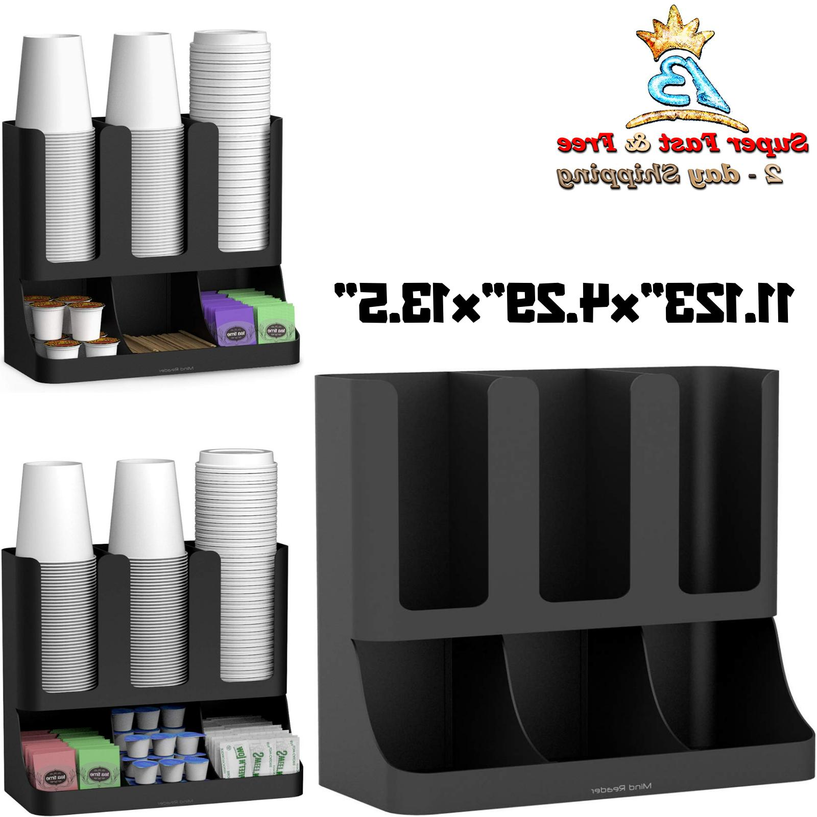 Coffee Drawer Storage Condiment Accessory Cup Holder Rack Ho
