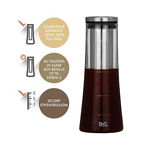 Zell Cold Maker | borosilicate glass maker | Fine steel iced coffee, or | by