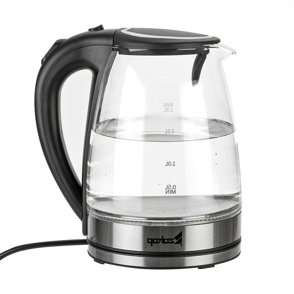 Electric Glass Kettle Coffee Hot Water Tea Maker US Plug 110