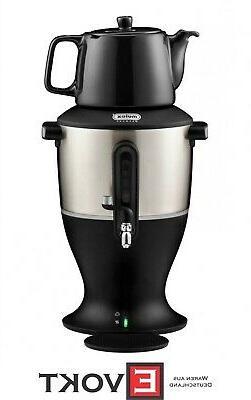 Electric MULEX Samovar + Teapot Tea Maker LARGE Samovar blac