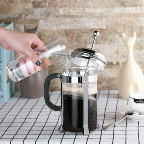 34 OZ/1000ML Stainless Steel French Press Coffee Maker Tea M
