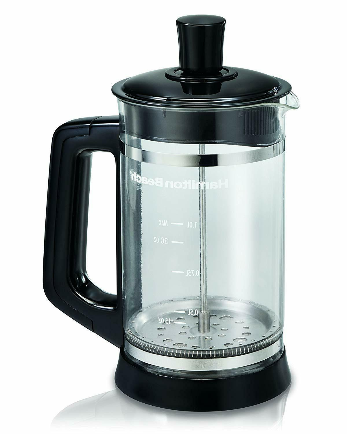 French Press Stainless Steel 34oz Filter
