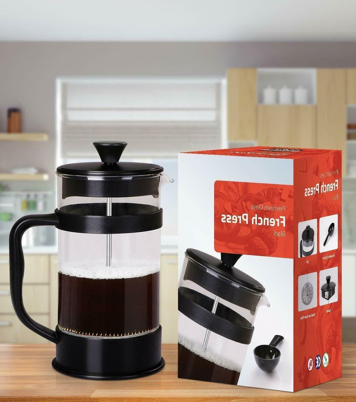 French Press Maker Stainless Steel Cup 34oz Tea 1 Filter