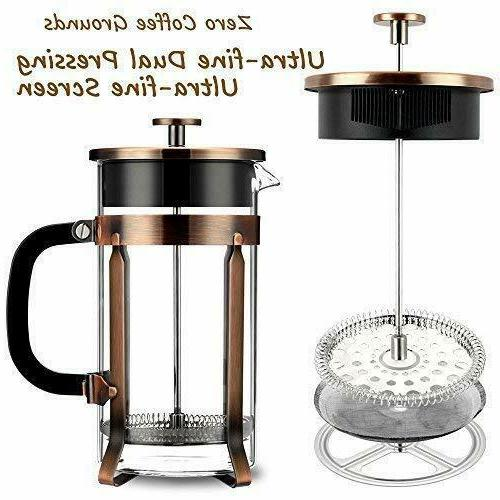 French Coffee Tea Maker Filter Chrome