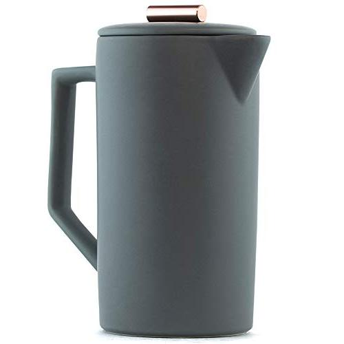 handmade ceramic french press coffee