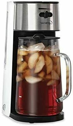 Ice Tea Maker, White/Stainless,Black