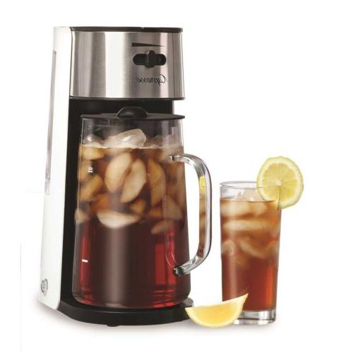 iced tea maker with glass carafe