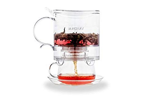 Imperial Maker, oz, Dispensing Tea Pot - FDA APPROVED - BPA Drain-Tap Tea   Tea with Tea