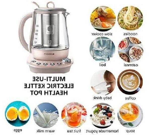 Buydeem K2693 Health Beverage Tea Maker Kettle Pink Pale Dogwood