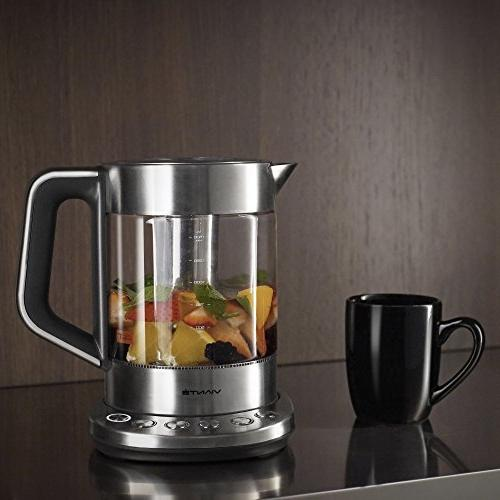 Viante KET-100 Tea Maker with removable Tea Infuser. Pre-Set Fast Boil Feature. Body. Stainless Steel Finish. 1.7 Liter Capacity.