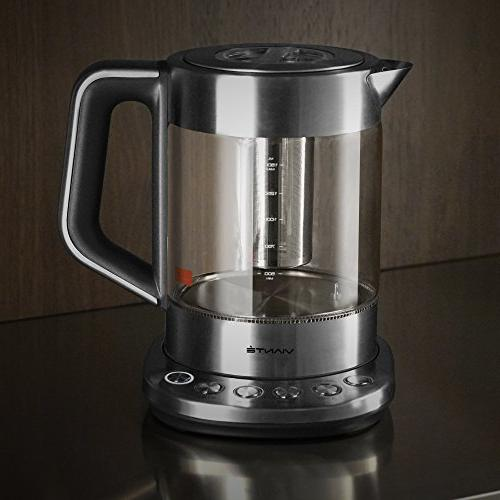 Viante KET-100 Electric Tea Maker Pre-Set Programs. Boil Feature. Body. Stainless Finish. 1.7 Cordless