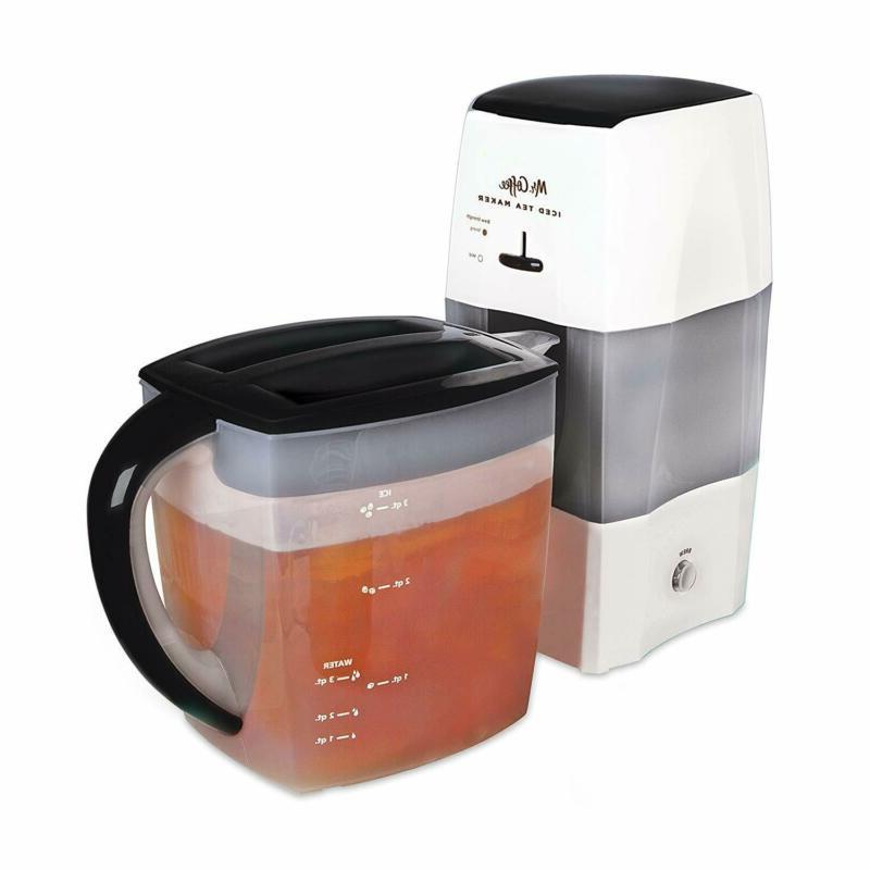 Mr. Coffee 3-Quart Iced Tea and Iced Coffee Maker, Black