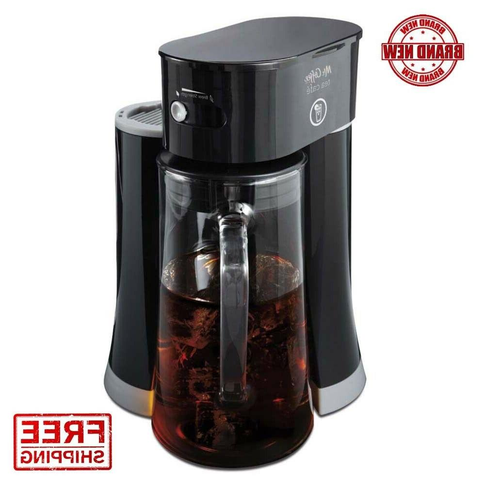 Mr. Coffee Tea Cafe 2-in-1 Black Iced Tea Maker With Glass P