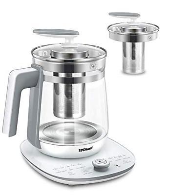 ICOOKPOT Multi-Use Electric Kettle Borosilicate Glass Tea Ma