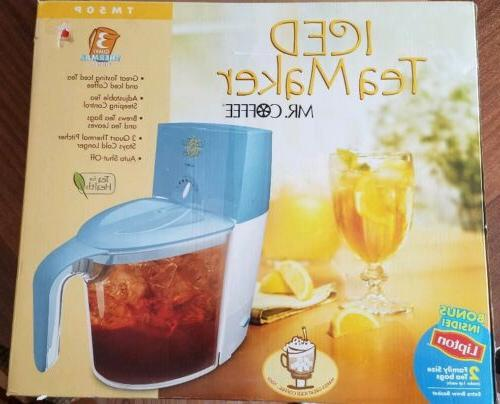 new mr coffee iced tea maker machine