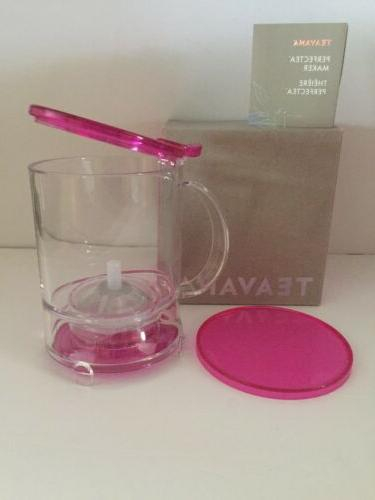 NEW- Teavana 16oz Fuchsia Leaf Tea Free