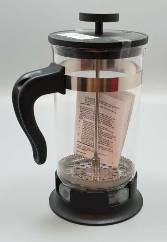 """New 9"""" French Tea Maker Stainless Glass"""