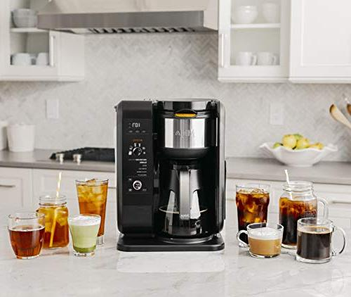 Brewed and Coffee 6 Brew Sizes, Brew Frother, & Baskets Glass Carafe