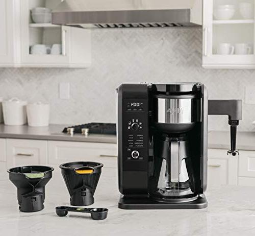 Ninja Hot Brewed System, and Maker 6 Brew Brew & Baskets with Glass Carafe