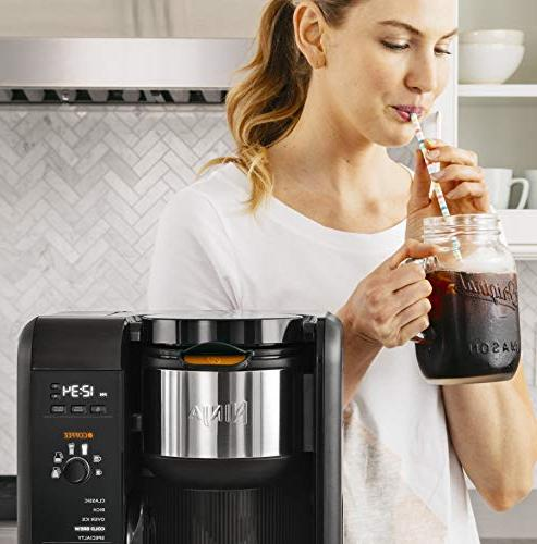Ninja Brewed System, Auto-iQ and 6 Brew Sizes, Brew Frother, Coffee & Tea Glass