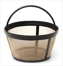 2 X Permanent Basket-Style Gold Tone Coffee Filter designed