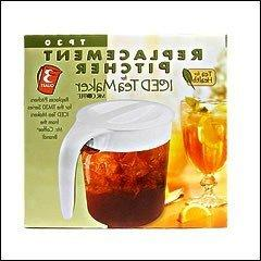 Mr.Coffee Replacement Iced Tea Pitcher TP30, White Lid