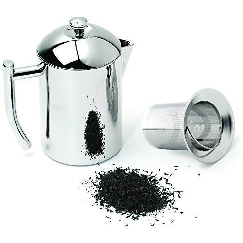 Frieling Steel Tea Maker with Infuser Basket,