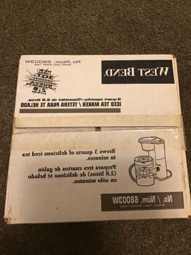 Vintage 3 QUART ICED TEA MAKER POT 68003W