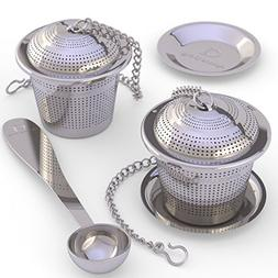 Loose Leaf Tea Infuser  + Tea Scoop - Ultra Fina Stainless S