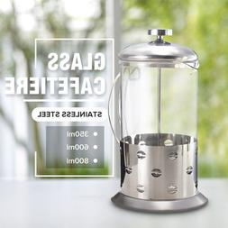 Manual Espresso Coffee Tea Maker Pot Stainless Steel Cafetie