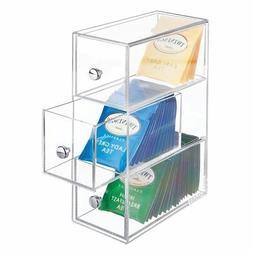 mDesign Kitchen Storage Organizer for Tea Bags, Sugar, Salt,