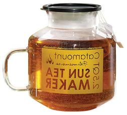 Microwave Sun Tea Maker, Glass, 2.5 Quart, Dishwasher and Mi