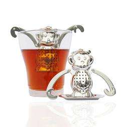 Monkey Shaped Stainless Steel Tea Filter Tea Strainer Scente