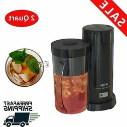 Mr.Coffee 2 Quart Black Iced Tea Iced Coffee Maker,Auto shut