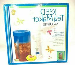 Mr. Coffee 2-Quart Iced Tea Maker  Brand New In Box -XTRA PI