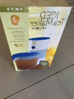 Mr. Coffee 3-Quart Iced Tea and Maker, Blue TM70 Model - NEW