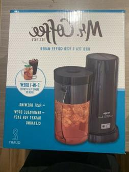 Mr. Coffee Iced Tea and Iced Coffee Maker 2 Quart 2-in-1 Bre