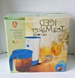 Mr Coffee Iced Tea Maker TM30PL 3 Quart with Bonus Pitcher B