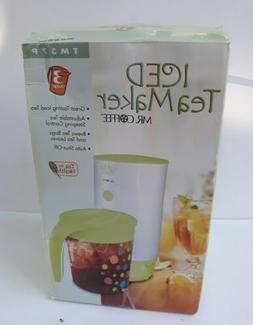 Mr. Coffee NEW TM37P 3-Quart Iced Tea Pot Maker Rare Green L