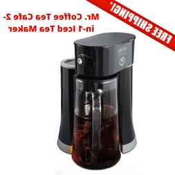 Mr. Coffee Tea Cafe 2-in-1 Iced Tea Maker with Glass Pitcher