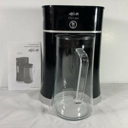 Mr. Coffee Tea Cafe Black Iced Tea Maker With Glass Pitcher