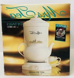 Mrs Tea By Mr Coffee Hot Tea Maker 6 Cup White w/Tea Cozy HT