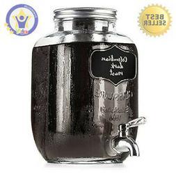 NEW Cold Brew Coffee Maker, 1 Gallon Mason Jars Drink Dispen