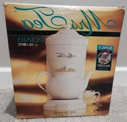 NEW IN BOX Mrs Tea By Mr Coffee Hot Tea Maker 6 Cup White w/