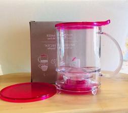 NEW Teavana Perfectea Maker 16oz Pink Fuchsia Loose Leaf Tea