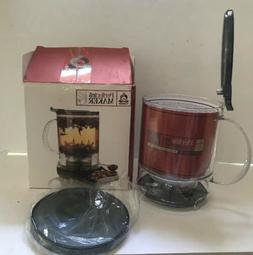 New TEAVANA Perfectea Tea Maker BLACK BPA free 2-cup 16 oz B