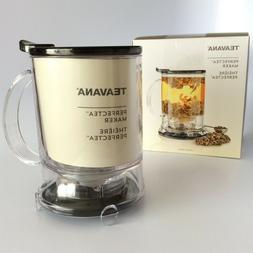 NEW Teavana PerfecTea Tea Maker Clear with black top 16 oz N
