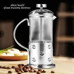 New Stainless Steel Glass French Press <font><b>Coffee</b></