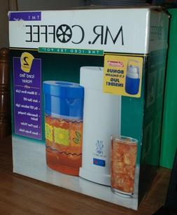NIB Mr. Coffee 2 Quart Iced Ice Tea Pot Maker TM1 w/ Bonus 1